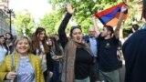 Yerevanda Serzh Sarkisian-ın baş nazirlikdən getməsni bayram edirlər, 23 aprel, 2018-ci il