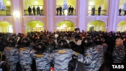 Акция протеста против фальсификаций на выборах в Госдуму, Петербург, 7 декабря 2011