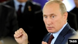 Ресей премьер-министрі Владимир Путин. Мәскеу, 14 қыркүйек 2011 жыл.