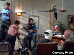 Behzad Moloud İranda film çəkilişi zamanı