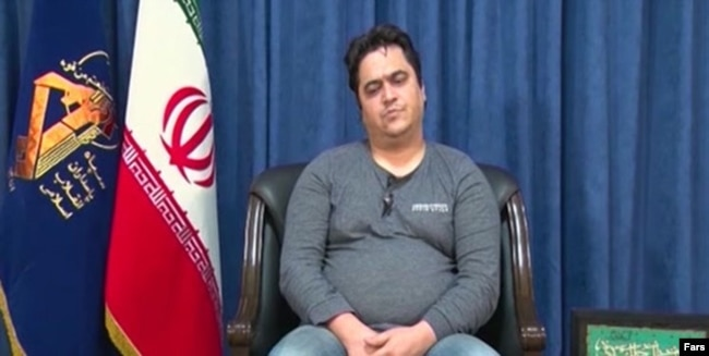 Iranian TV aired a clip in October of exiled opposition activist Roohollah Zam after he was arrested by the IRGC.