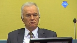 Former Bosnian Serb Army chief Ratko Mladic sits in the courtroom in The Hague on May 16.