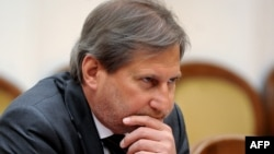 еврокомесарот за преговори за проширување Јоханес Хан