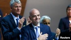 Джанні Інфантіно після обрання президентом ФІФА. Цюріх, 26 лютого 2016 року