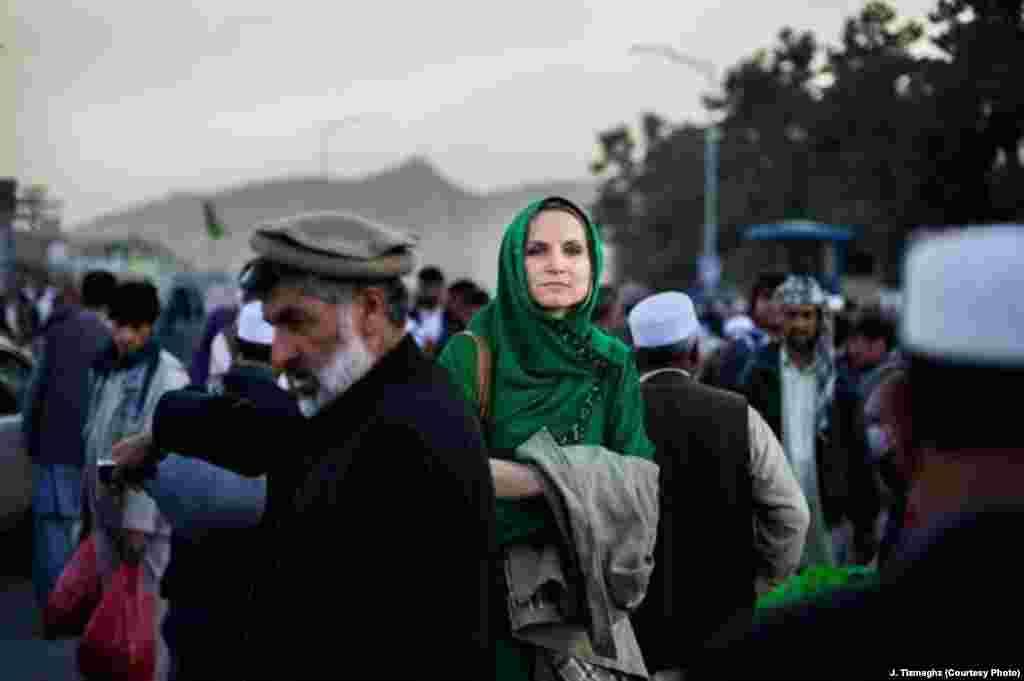 Working in Kabul, Afghanistan.