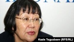 «Аман-саулық» ұйымының басшысы Бақыт Түменова. Алматы, 10 қаңтар 2012 жыл.