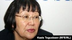 """""""Аман-саулық"""" қоғамдық ұйымының президенті Бақыт Түменова. 10 қаңтар, 2012 жыл."""