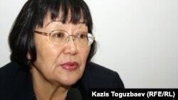 «Аман-саулық» қоғамдық қорының төрайымы Бақыт Түменова. Алматы, 10 қаңтар 2012 жыл.