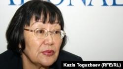 """Президент общественной организации """"Аман саулык"""" Бахыт Туменова. Алматы, 10 января 2012 года."""