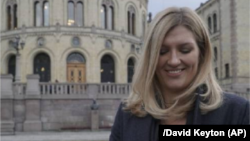 Beatrice Fihn, the executive director of the International Campaign to Abolish Nuclear Weapons, in Oslo on December 9