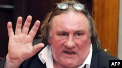 Montenegro -- French actor Gerard Depardieu speaks during a press conference in Podgorica, 08Jan2013