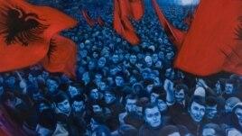 Slika slavlja na glavnom trgu u Prištini (V.M.)