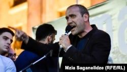Звиад Куправа, Тбилисидегі үкіметке қарсы шеруді ұйымдастырушылардың бірі.