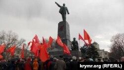 Митинг коммунистов у памятника Ленину в Севастополе, 14 декабря 2019 год
