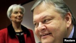 Шефот на ММФ Кристин Лагард и грчкиот министер за финансии Евангелос Венизелос