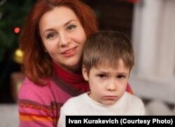 Вольга Драчук з сынам Андрэем