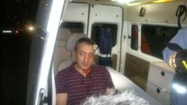Armenia -- Civil activist Suren Saghatelian is hospitalized after being attacked in Yerevan, 5Sep2013