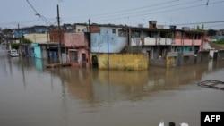 Наводнение в пригороде Сан-Паулу