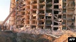 Американский военный жилой комплекс в Хобаре, Саудовская Аравия, после взрыва в 1996 г.