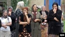 Похороны Заремы Садулаевой в Чечне
