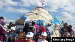 Этноспорт фестивалендә кырымтатар чатыры