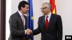 Средба на Министерот за надворешни работи Никола Попоски со Директорот на генералниот директорат за проширување на Европската комисија Стефано Санино.