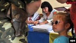 Голосування на одній з виборчих дільниць Львова під час виборів президента України, 25 травня 2014 року