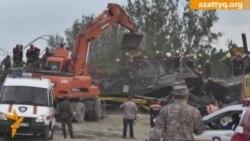 Крушение моста в Алматы