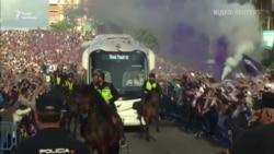 Вболівальники «Реалу» влаштували грандіозний прийом напередодні Ліги чемпіонів (відео)