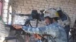القوات الحكومية ترد على مسلحي داعش في منطقة الحامضية بالانبار