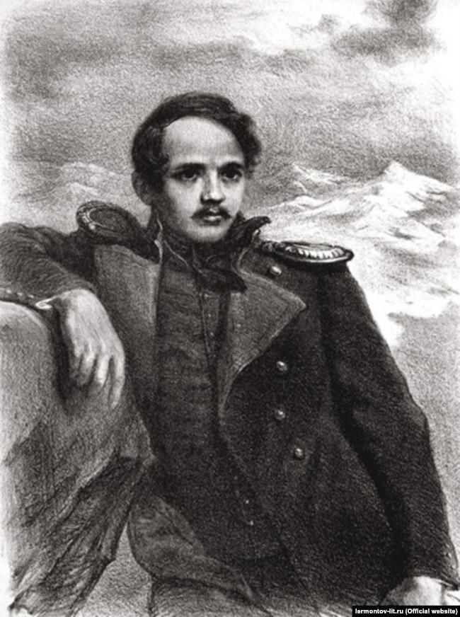 «М.Ю. Лермонтов». Автолітографія Олександра Пруцкіх, 1941 рік