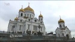 Sankt Peterburqda metro partlayışında həlak olanlar üçün matəm mərasimi