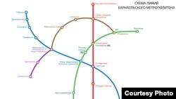 Схема линий барнаульского метрополитена с сайта barnaul-metro.ru