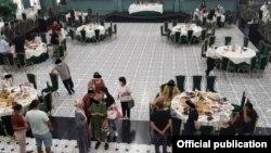 Санитардык талаптарды бузуп той өттү деген ресторандардын бири. Бишкек мэриясынын санитардык-экологиялык инспекциясы 17-августта тараткан сүрөт.
