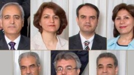 The seven Baha'is imprisoned since spring 2008 (photo: Baha'i World News Service)