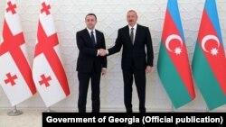 Ираклий Гарибашвили и Ильхам Алиев
