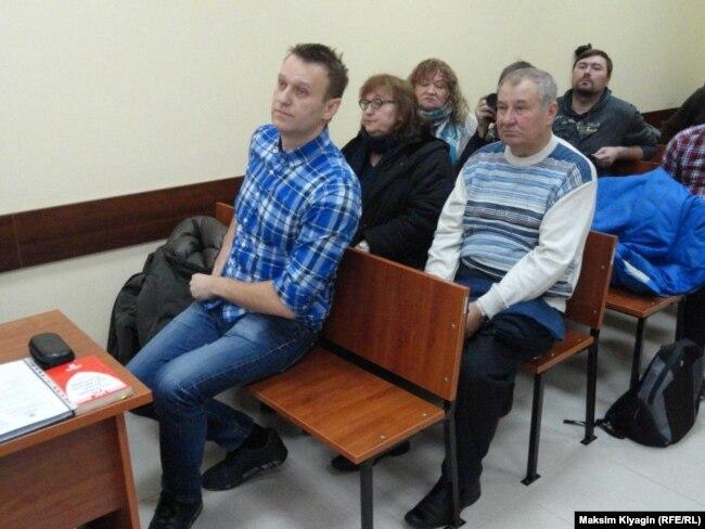 Семья Олега Навального на повторных слушаниях об УДО 27 февраля 2017 г.