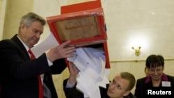Идет подсчет голосов на выборах в Белоруссии
