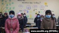 Ученики многих школ Андижанской области вынуждены учиться в холодных классах.