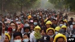 Протесты в Мьянме. 29 марта 2021 года.
