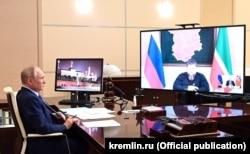 Онлайн-встреча Владимира Путина и Рамзана Кадырова
