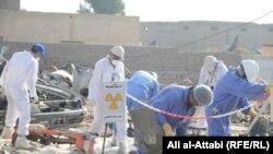 Ирактағы радиоактивті заттарды жою жұмысы (Көрнекі сурет).