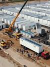 Uzbekistan - government handout video of construction of a COVID-19 quarantine center - story about corruption - video grab