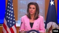 مورگن اورتگاس میگوید، متحدان آمریکا در خصوص ضرورت توقف فعالیتهای بیثبات کننده و مخرب ایران توافق دارند. (عکس از آرشیو)