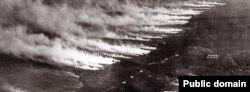 Немецкая газовая атака во время Первой мировой войны. 1917 год