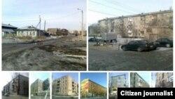 Коллаж из фотографий домов в городе Петропавловск. Фотографию прислал Андрей Половцев.