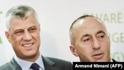 Косовскиот претседател Хашим Тачи и премиерот Рамуш Харадинај