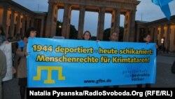 Демонстрация солидарности с крымскими татарами в Берлине. Архивное фото