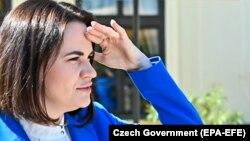 Светлана Тихановская в Праге. Чехия, 8 июня 2021 года.