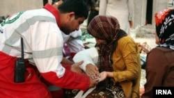Повредени лица од земјотресот во Иран.